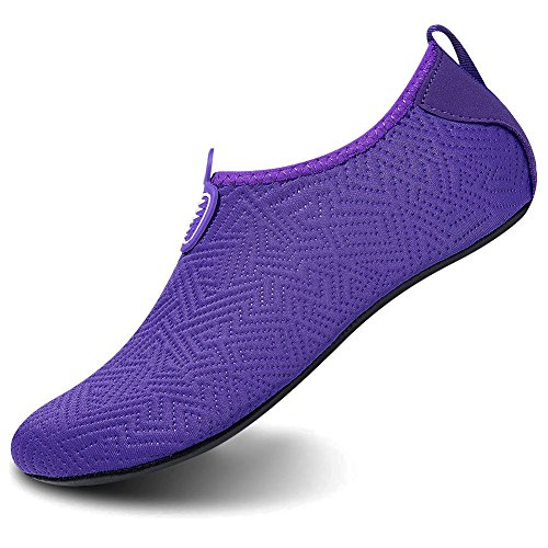 Msjenny Men Water Sports Pool Aqua Dry Swim Barefoot Purple Shoes for Beach Shoes Women Yoga Socks Quick Surf FFZSAwrq
