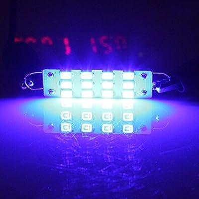 cciyu 44mm 12-SMD Rigid Loop Blue Festoon 1.73