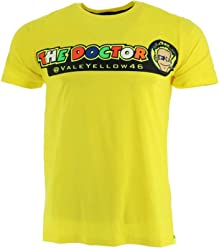 Valentino Rossi VR46 Moto GP The Doctor Yellow T-Shirt Official New