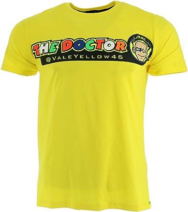Valentino Rossi VR46 Moto GP The Doctor Amarillo Camiseta Oficial 2018: Amazon.es: Ropa y accesorios