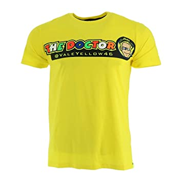 Valentino Rossi Vr46 Moto Gp The Doctor Gelb T Shirt Offiziell 2018