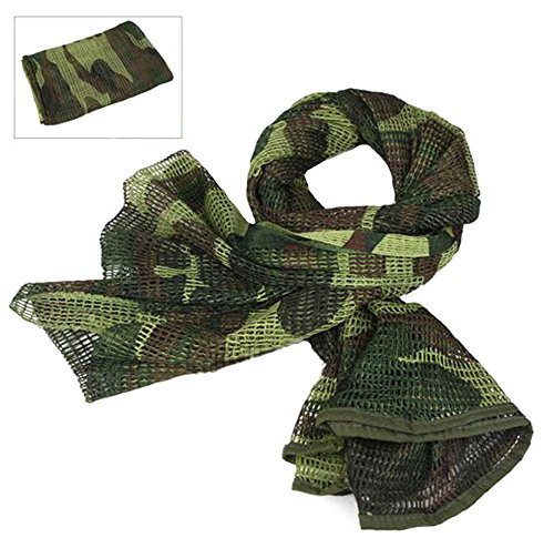 Military Wrap (Tactical Mesh Net Camo Scarf For Wargame,Sports & Other Outdoor Activities (Woodland Camo (3)))