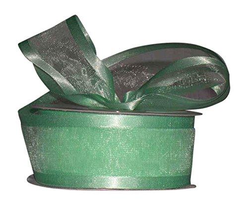 Mint Organza Satin Edge Ribbon - Ribbon Bazaar Satin Edge Sheer Organza 7/8 inch Mint 25 yards Ribbon
