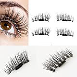 Ultra-thin Magnetic Eye Lashes 3D Reusable False Magnet Eyelashes (0.2MM, D)