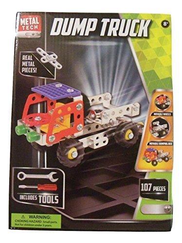 (Metal Tech Build Your Own Vehicle Set ~ Construction Vehicle (Dump Truck; 107 Pieces; Ages 8+))