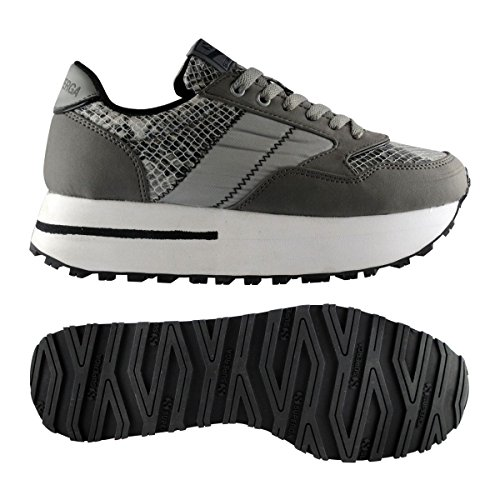 Sneakers - 4701-synnbksnakenylw Grey