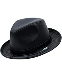 Yosang Mens Genuine Leather Fedora Porkpie Hat