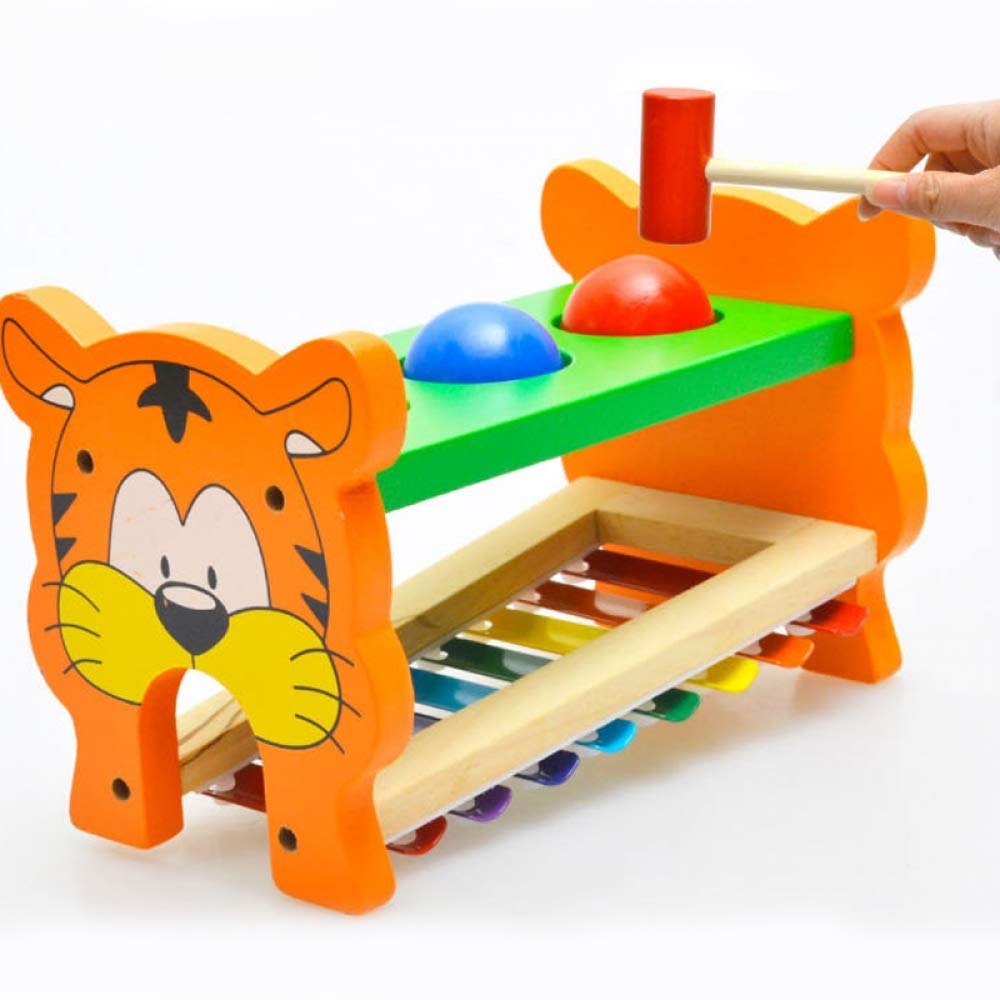 ZJHZN High Heels Creative Tiger Wooden Learning Education Glockenspiel Xylophone Percussion Toys Early Learning Music Toy Musical Instrument by ZJHZN