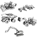 Fascinations Metal Earth CAT 3D Metal Model Kit - Set of 5 - Motor Grader, Excavator, Wheel Loader, Mining Truck, Dozer