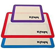 Amazon Lightning Deal 100% claimed: Silicone Baking Mat Set (3) 2 Half Sheets + 1 Qtr Sheet