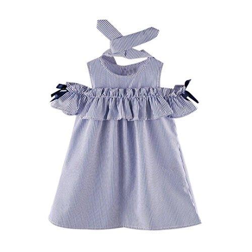 Manadlian Vestido De Niñas 2019 Niñito Bebévestido Princesa Niña Ropa De Primavera Horse Stripe Print Vestido De Fiesta