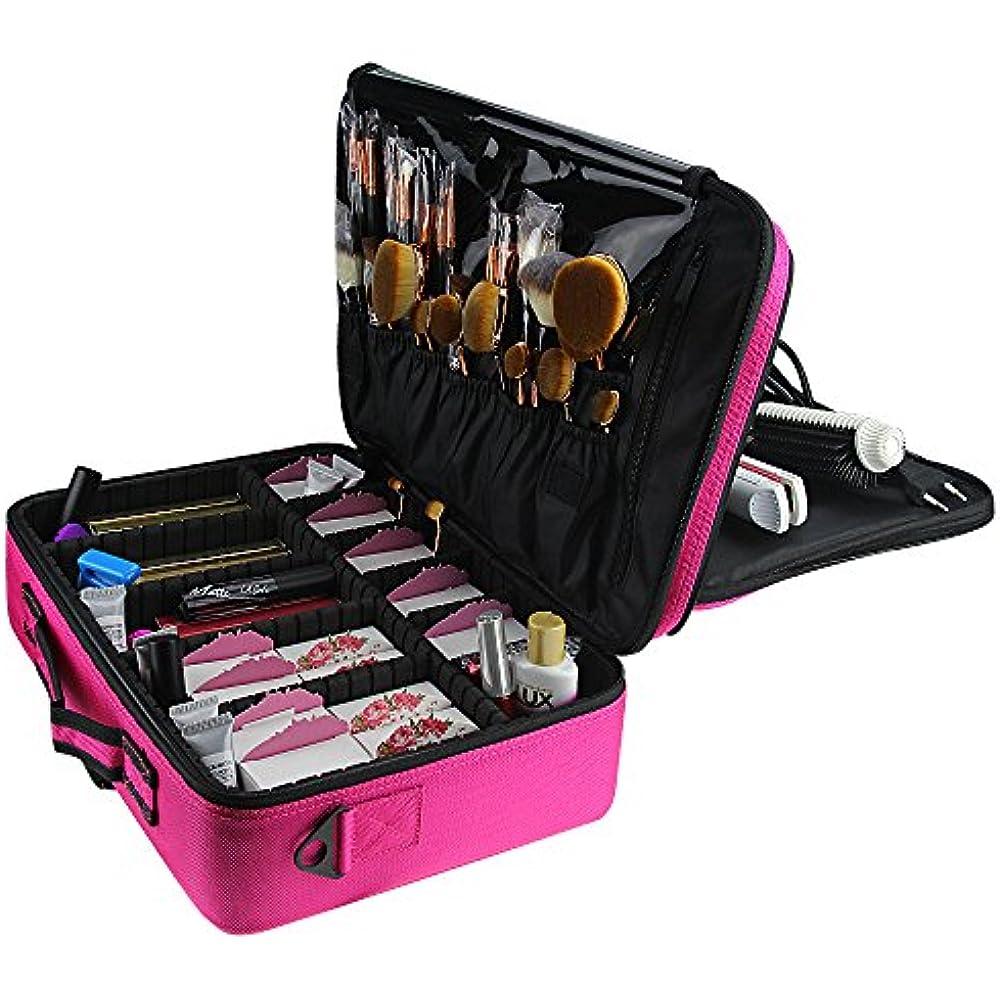 "Makeup Bags Travel Large Case 16.5"" Professional Train 3 ..."