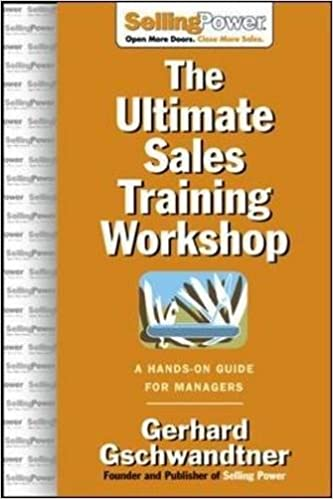 amazon the ultimate sales training workshop a hands on guide for