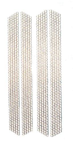Flip Flop Bling Rhinestone Strips, 4-Pack, Clear