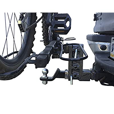 """GEN-Y Hitch Mega-Duty Dual Receiver Hitch: Raise or Drop up to 7.5"""" – 10,000 Pounds Capacity, 1500 Pounds Tongue Weight, GH-304: Automotive"""