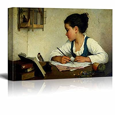 A Girl Writing; The Pet Goldfinch by Browne...16