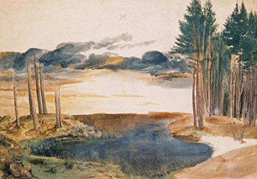 kunst für alle Art Print/Poster: Albrecht Dürer Pond in The Woods Picture, Fine Art Poster, 33.5x23.6 inch / 85x60 cm