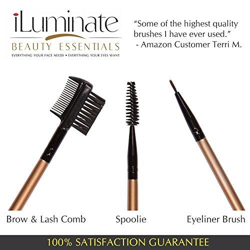 rose makeup brushes amazon. rose gold makeup brush set - professional brushes kit with usage guide for foundation blending amazon