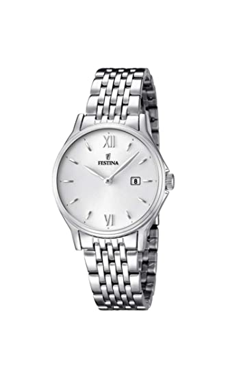 Festina ACERO CLASICO F16748-2 - Reloj de pulsera analógico para mujer, acero inoxidable, cuarzo: Festina: Amazon.es: Relojes
