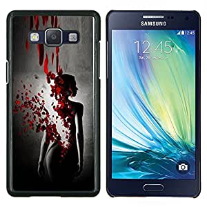 Sangre Rose Petal Vestido Negro Mujer- Metal de aluminio y de plástico duro Caja del teléfono - Negro - Samsung Galaxy A5 / SM-A500
