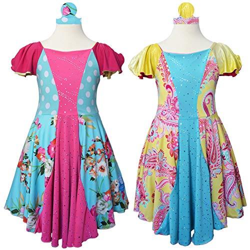 (TwirlyGirl Girls Pink Princess Dress Reversible Pink Blue Cinderella Party)