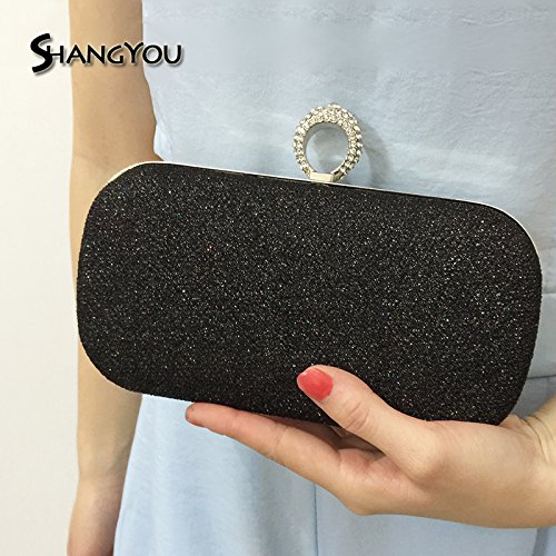 dinner bag handbag skew Black banquet banquet Handbag bag FYios Bag Ring twE7qzzx