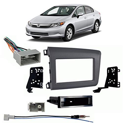 - Fits Honda Civic 2012 Single DIN Aftermarket Harness Radio Install Dash Kit