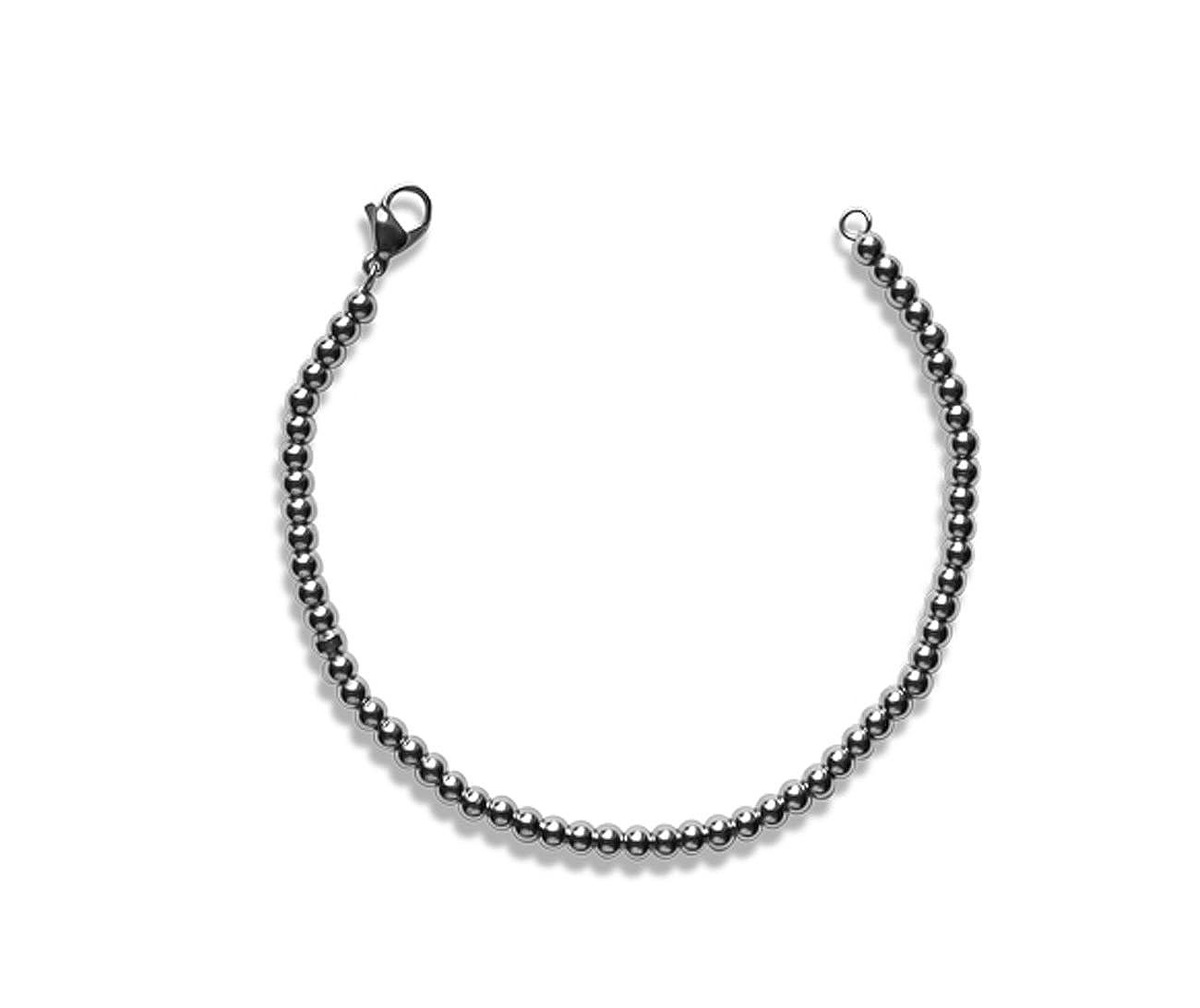 Bahnmüller Edelstahl-Armband Armkette Silber Länge 19cm B:3,0mm 960