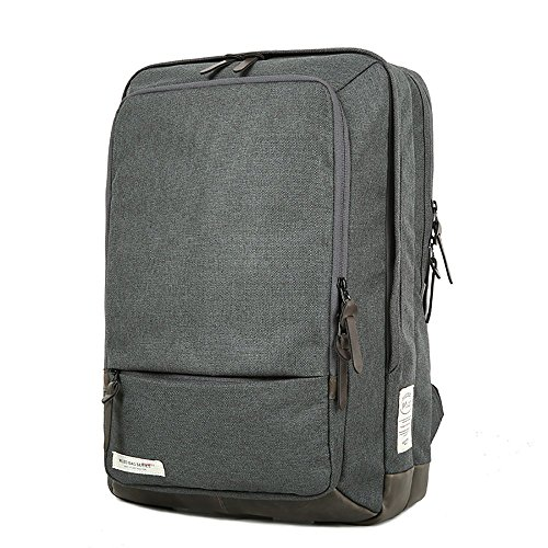 (Water Resistant CORDURA 1000D Oxford Laptop Backpack with YKK Zippers for Women Men,School College Backpack Fits 14.0 inch Notebook (Grey))