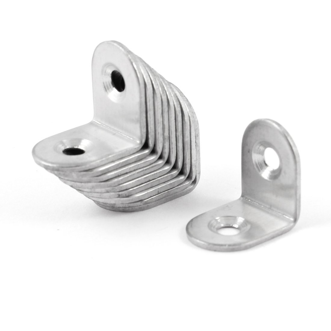 VNDEFUL 20PCS 20mmx20mm Stainless Steel 90 Degree Angle Bracket Corner Shelf Fastener