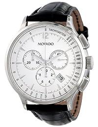 Movado Men's 0606575 Circa Black Crocodile-Embossed Leather Strap Watch