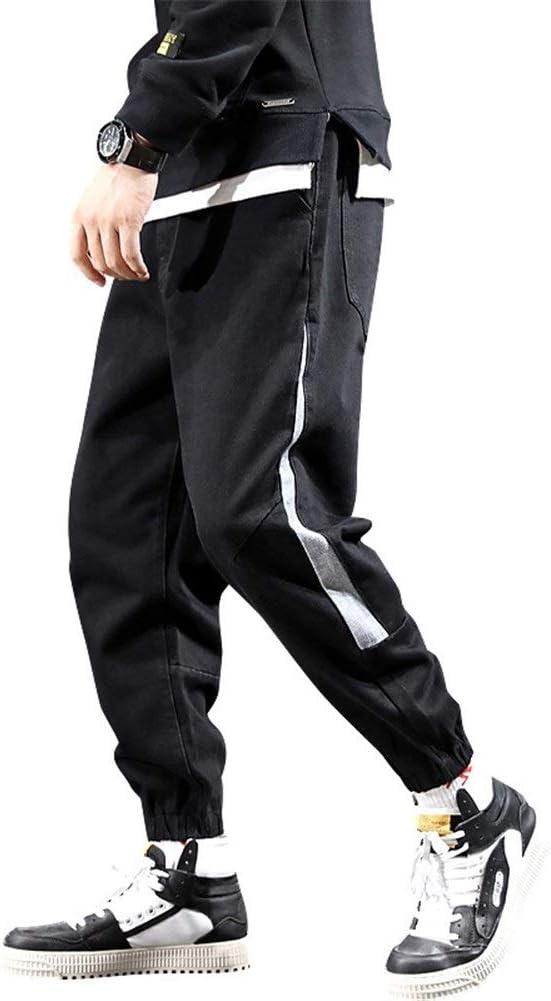 Fashion clothing 緩い ジーンズ ハーレムパンツ ファッション ズボン カジュアル (Color : Black, Size : 30)