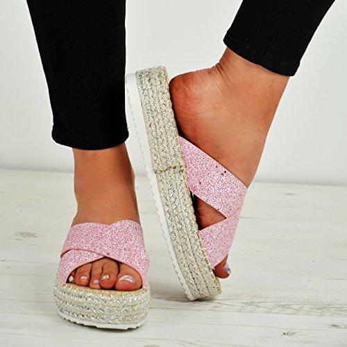 Shoes Cucu Heels Sandals Pink Size Studded Fashion High Espadrille Summer Ladies Flatforms Womens CCAqvwS