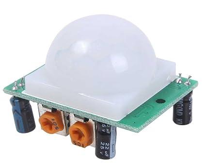 niceEshop ST-ZV390-ZX - Módulo detector de movimiento PIR (sensor infrarrojo,
