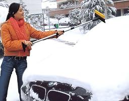LONG Winter Telescopic Car/Suv Snow Broom (Squeege, Scraper & Ice Brush)