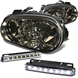 Volkswagen Golf Mk4 Smoke Lens Headlight+DRL 8 LED Fog Light