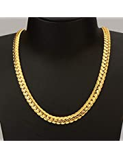 Fashion Jewelry 18K Plated Gold Snake Chain Necklace Jewelry, Punk Gold Chain For Men