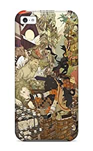 New RLYazhd2098MMIXw Dima Original Anime Lion Leopards Cats Tpu Cover Case For Iphone 5c