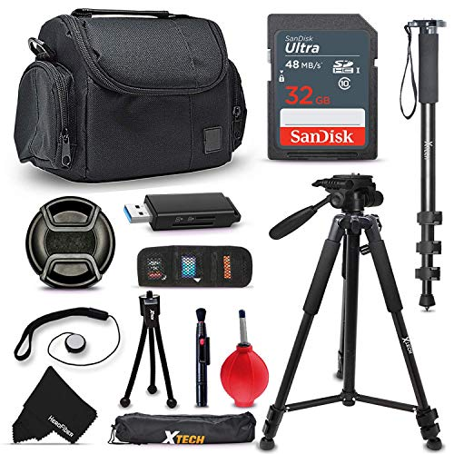 FUJI Camera Ultimate ACCESSORIES Kit for Fuji FINEPIX S9900W S9800 S9400W S9200 S8600 S8500 S8400W S8300 S8200 S6900 S6800 S6700 S4800 S4700 S4600 S4500 S4400 S4300 S2950 XP80 XP70 XT10 XT1 XA2 XA1 X100T X100S X100 XQ2 XQ1 XE2 XE1 XPro1 X30 X20 X10 XM1 XF1 XS1 HS50EXR SL1000 HS35EXR XP70 F800EXR SL300 SL240 F770EXR F600EXR F750EXR HS30EX F600 HS20EXR F500EXR F5500EXR Cameras Includes: 32GB High Speed SD Memory Card + Pro Grade 72' inch Tripod + Full size 72' Inch Monopod + Well Padded Camera Case + Memory Card Wallet Case Holder + 58mm Center Pinch Lens Cap + Lens Cap Holder + 2 Screen Protectors + Universal Memory Card Reader + Cleaning Dust Blower + Cleaning Pen + Mini Flexible Table Tripod + Deluxe Cleaning Kit (Fuji S4800 Digital Camera)