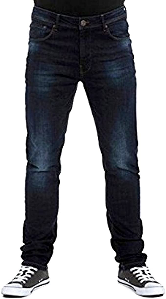S//R//L DML Mens Skinny Fit Dark Wash Jeans in Waist 30 to 40 Inches Attic