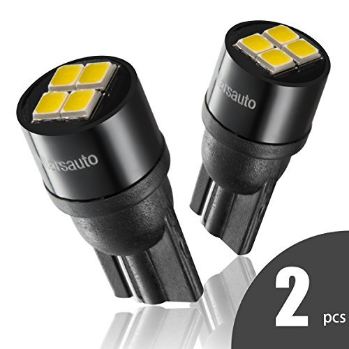 194 T10 LED License Plate Lights Bulbs Non-polarity, [2018 UPGRADED] Marsauto 2825 168 4SMD White 12V 2PCS