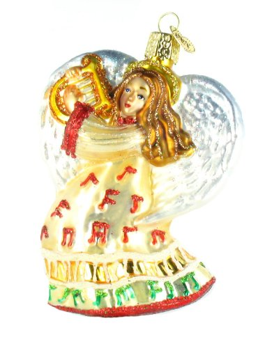 Music Themed Christmas Trees - Old World Christmas Take Note Angel Glass Ornament