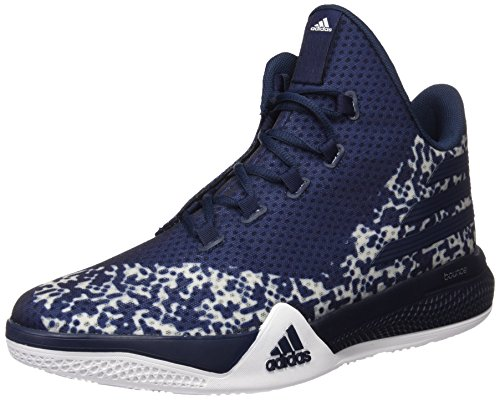 adidas Herren Light EM UP 2 Basketball Turnschuhe, Azul Marino / Gris / Blanco (Onisua / Maruni / Ftwbla), 42 2/3 EU