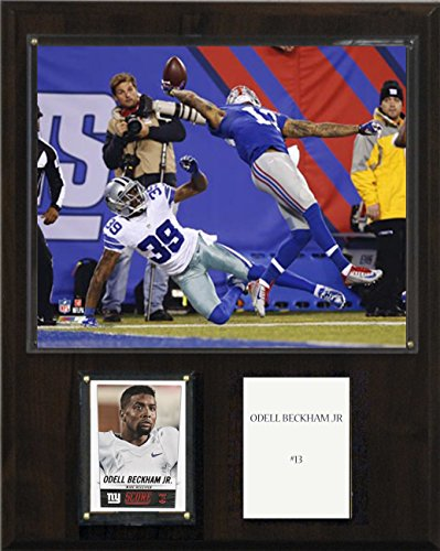 C&I Collectables NFL New York Giants Odell Beckham Junior The Catch Player Plaque, 12 x 15-Inch by C&I Collectables