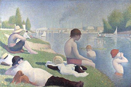 Oil Painting 'Georges Seurat - Bathers A - Smith Carrel Single Shopping Results