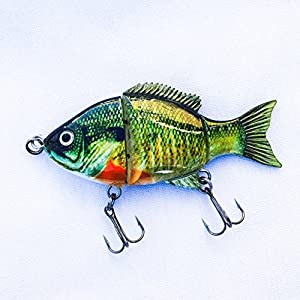 Blue gill shad top water floating bass pike for Amazon fishing lures