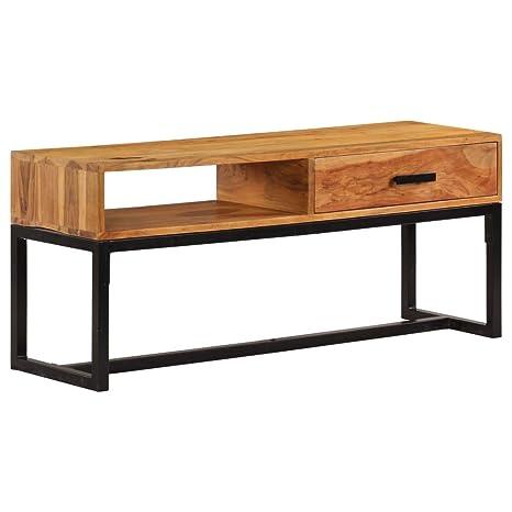 Vidaxl Sideboard Massivholz Akazie 110x30x45cm Kommode Schrank