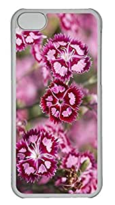 Personalized iPhone 5c Cases - Unique Cool Design Pink Flowers Macro