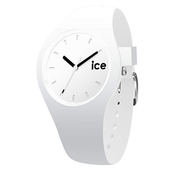 Ice-Watch - Ice Ola White Black - Reloj Blanco para Mujer con Correa de Silicone - 000992 (Small)