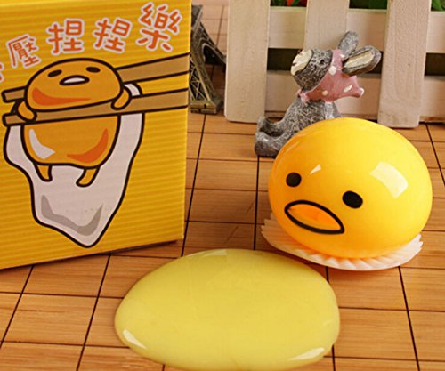 Cute Yellow Round Sucking Vomiting Lazy Egg Yolk Vent